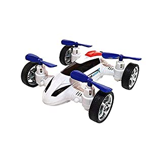 Longra Four-Wheel Drive Off-Road Rotating Off-Road Toy Car,Simulation Model Toy Double-Sided Stunt Friction Power Toy (C(White))