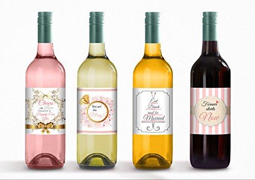 Wine Bottle Labels for Engagement Party, Bachelorette Par...