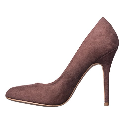 High Brown Heel Pumps Piper Women's Riverberry Round Suede Toe S0Iqxv