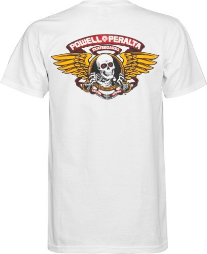 (Powell-Peralta Winged Ripper White T-Shirt, XX-Large )