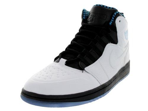 Nike Mens Air Jordan 1 Retro 94 Basketball Shoes White/Powder Blue/Black 631733-106 Size 9.5