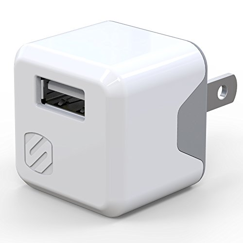 SCOSCHE USBH121MWT SuperCube 12W Single USB Port Wall Charger for All USB Devices - White ()