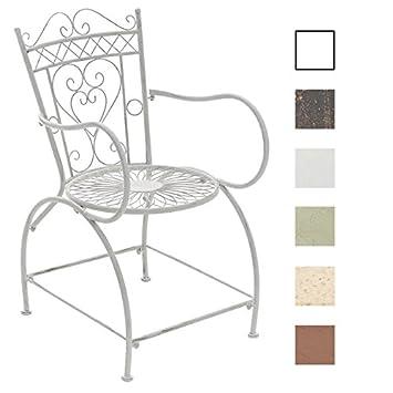 CLP Gartenstuhl SHEELA Im Jugendstil | Metallstuhl Mit Geschwungenen  Armlehnen | Antiker Handgefertigter Gartenstuhl Aus Metall