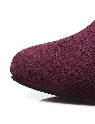 Black Casual Y tacón Rojo botas Anfibias Moda Cn43 exterior Eu42 us10 Cuña semicuero Uk8 Cn A Mujer Oficina Botas La Zq negro Morado botas 5 5 Trabajo qw87z65x8H