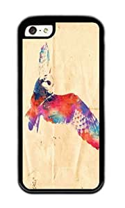 Apple Iphone 5C Case,WENJORS Cute Its a hoot Soft Case Protective Shell Cell Phone Cover For Apple Iphone 5C - TPU Black