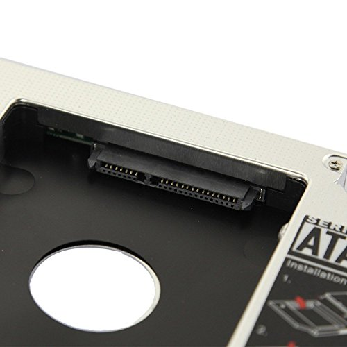 WoneNice NEW SATA 2nd HDD caddy for 9.5mm Universal CD/DVD-ROM ACER BENQ HP DELL ASUS by WoneNice (Image #1)