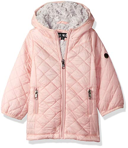 Steve Madden Baby Girls Fashion Glacier Shield Jacket, Blush 24M