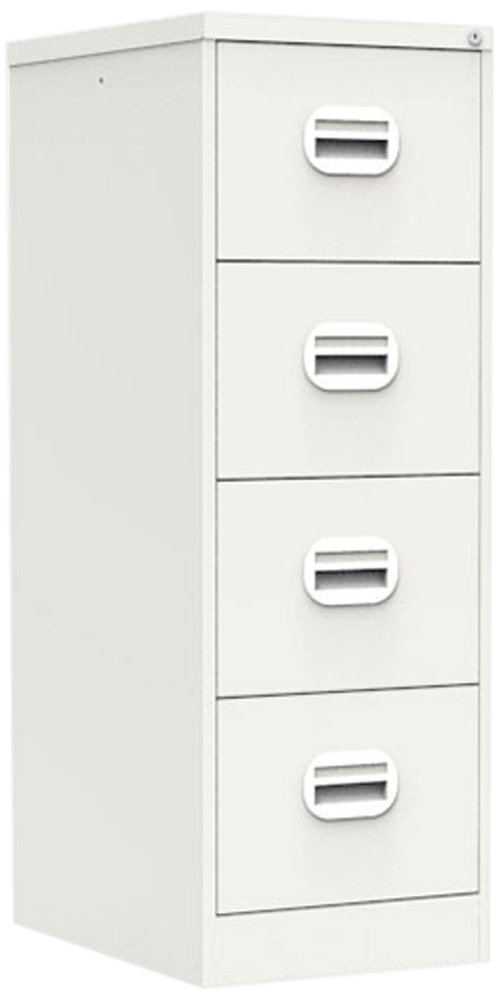 Simply Office 4 Drawer Steel Filing Cabinet, Satin White, 30 kg Silverline FILEE4SWH