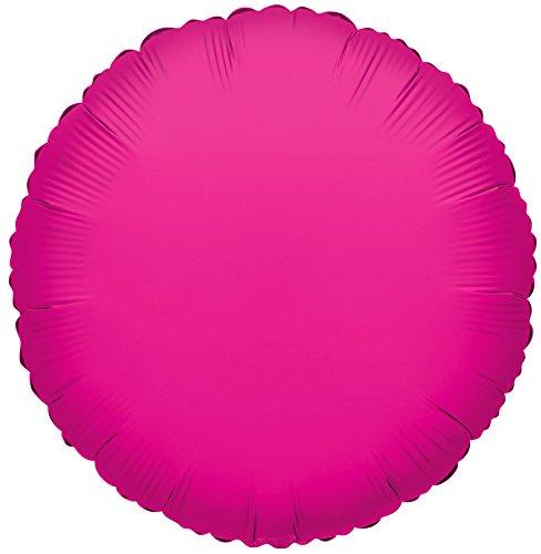 (Kaleidoscope Hot Pink Round Foil Mylar Balloon, 18