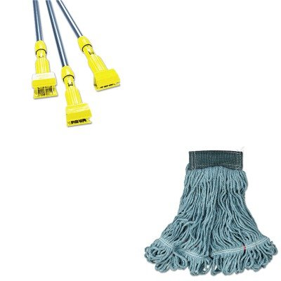 KITRCPA152GRERCPH246GY - Value Kit - Rubbermaid Web Foot Wet Mop (RCPA152GRE) and Rubbermaid-Gray Gripper Wet Mop Handle (RCPH246GY) by Rubbermaid