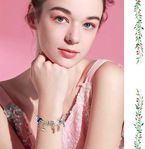 Mouttop Advent Calendar Made With Pandora Diy Beads Charms Bracelet For Kids Christmas Jewelry Box 8 5 Silver Amazon Ae