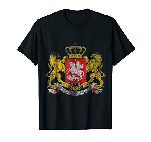 Georgian Coat of Arms Georgia Symbol T-Shirt ()