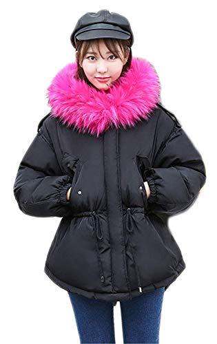 Cappuccio Pelliccia Coulisse Lunga Collo Elasticit Con Invernali Donna Moda Manica Cappotto Stampate Giacca Camuffare EWH2YID9