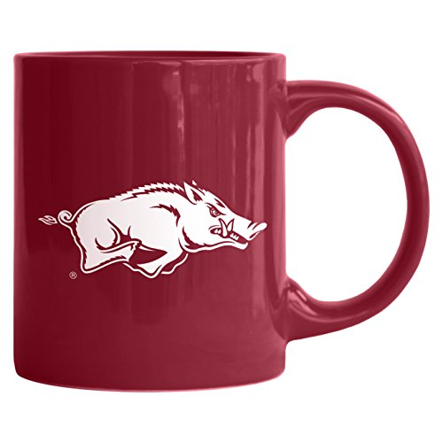 NCAA Arkansas Razorbacks Sculpted Rally Mug, 11-ounce