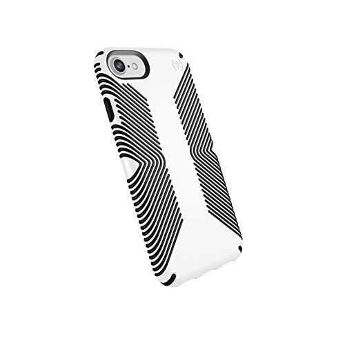 Speck Products Presidio Grip Case for iPhone 8 (Also Fits 7/6S/6), White/Black