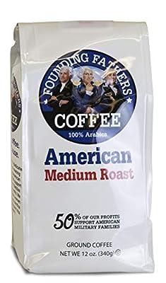 Founding Fathers Coffee American Medium Roast 12 Ounce Ground Coffee by Founding Father's Coffee