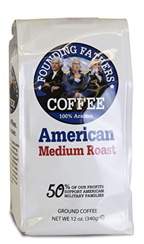 - Founding Fathers Coffee American Medium Roast 12 Ounce Ground Coffee