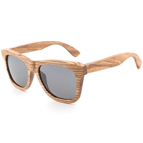 Gafas de sol polarizadas de madera para hombres y mujeres Gafas de sol de madera naturales Gafas de madera de bambú Espejo...