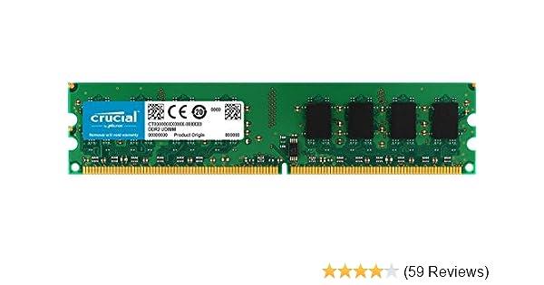 Lot of 4 CRUCIAL 1GB 240 PIN 128M x 64 DDR2 RAM