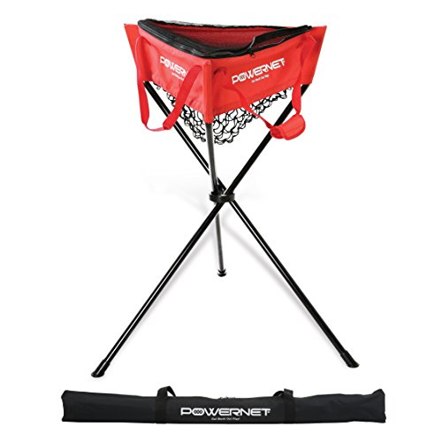 PowerNet Baseball Softball Zippered Removable Ball Caddy for Batting Practice ()