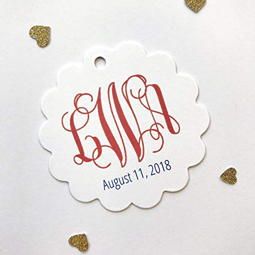 (Thanks For Coming! Monogram Wedding/Event/Celebration Favor Hang Tags (SC-155))
