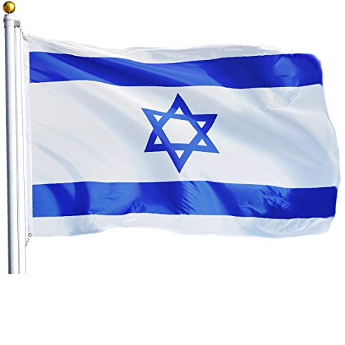 G128 - Israel (Israeli) Flag | 3x5 feet | Printed - Vibrant Colors, Brass Grommets, Quality Polyester