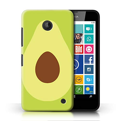 eSwish Phone Case/Cover for Nokia Lumia 635 / Skinny Avocado Design/Fruit Trend Summer Cartoon Collection (Girly Nokia Lumia 635 Cases)