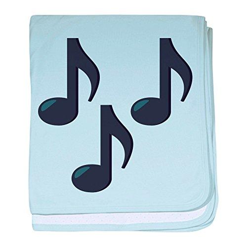 - CafePress Music Notes Emoji Baby Blanket, Super Soft Newborn Swaddle