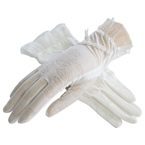 LANTINA summer women's touchscreen lace sun gloves Anti-skid for work or tea - Shopping Boxing Day Adelaide