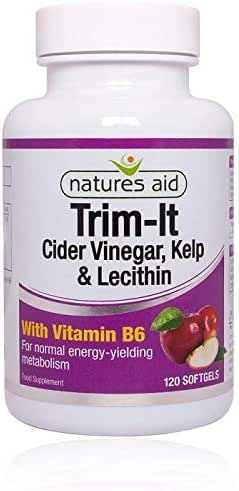 Natures Aid Trim-It (Cider Vinegar, Kelp, Lecithin & VIT. B6) 120 Softgels 4PK