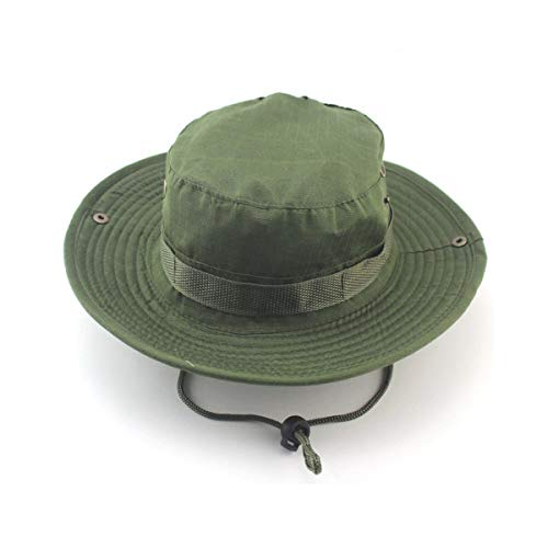 Myhome99 Bucket Hats Jungle Military Camouflage Bob Camo Bonnie Hat Fishing Barbecue Cotton Mountain Climbing Hat Army Green