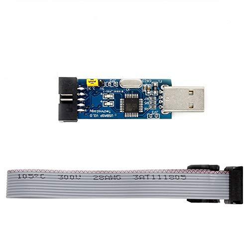 HAOHAOCHENG-WL USBASP USBISP Downloader Programmer for 51 AVR Accessory Compatible Replacement