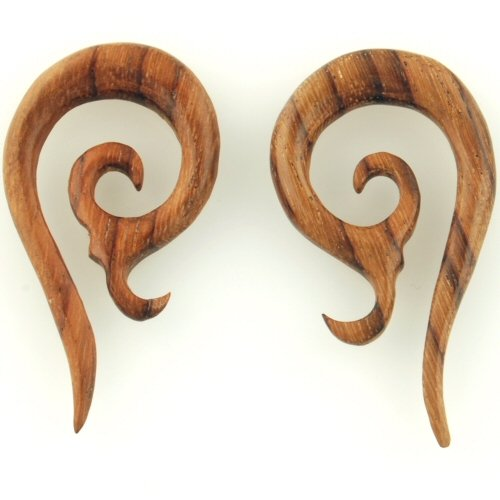 Pair of Wood Devil Horns: 00g
