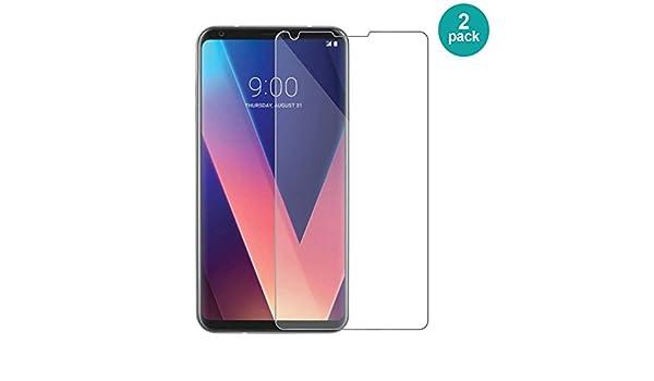 AIOIA Cristal Templado Premium para LG V30【2 Paquete】, Protector ...