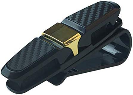 Tivollyff ポータブルユニバーサルファスナークリップメガネクリップチケットカードクランプABS車のメガネケース車のサンバイザーサングラスホルダー