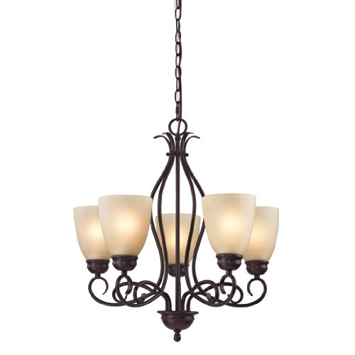 Cornerstone Lighting 1105CH/10 Chatham 5 Light Chandelier, Oil Rubbed Bronze Review