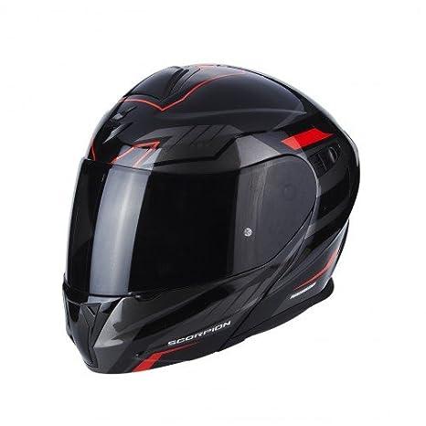 Scorpion Casco de moto Exo 920 Shuttle, negro/rojo, tamaño S