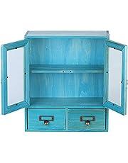 Desktop Organizer, Veilig Multifunctionele Cosmetische Opslag Container Grenen+Glas voor Winkel voor Documenten Sieradenrek voor Cosmetische Opslag voor Thuis