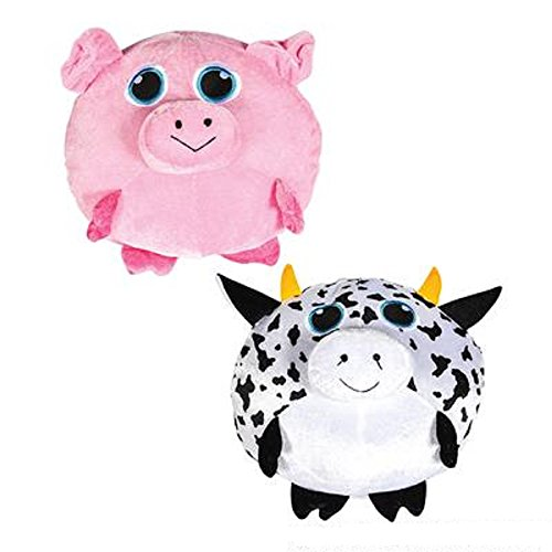 Pudgy Cow & Pig, Multicolored. One dozen. - Pudgy Pig Costume
