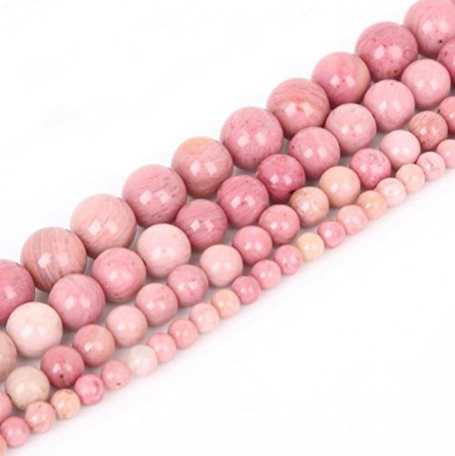 Top Quality Natural Pink Rhodonite Gemstone 8mm Round Loose Gems Stone Beads 15 Inch for Jewelry Craft Making GF9-8
