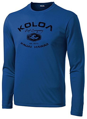 Koloa Surf Tall Vintage Arch Moisture Wicking Long Sleeve Shirt-2XLT-Royal/b ()