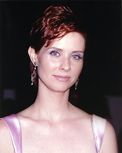 Cynthia Nixon Posed in Violet Dress with earrings Photo Print (8 x 10)