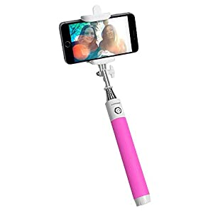 puregear compact bluetooth selfie stick with built in remote shutter for iphone and. Black Bedroom Furniture Sets. Home Design Ideas