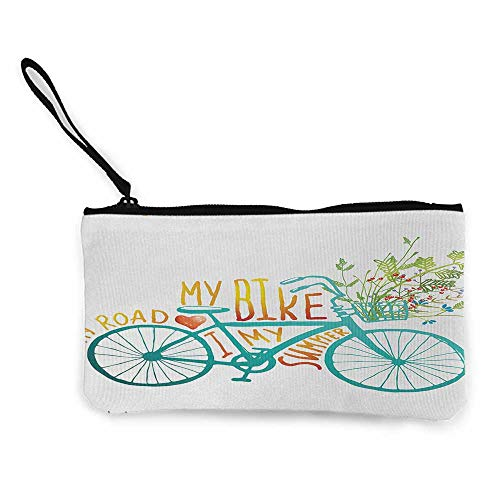 Bicycle Change Purse Plainly Designed Bicycle Silhouettes In Different Colors Active Lifestyle ThemeCellphone Wallet Multicolor