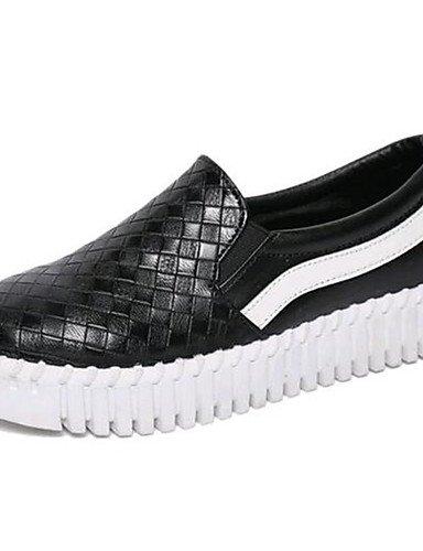 comfort Plano mocasines Uk6 Black negro Eu39 Mujer Eu36 Cn36 Blanco Uk4 us8 exterior Casual De Cn39 Zq tacón semicuero White us6 Zapatos wSBYIqqX