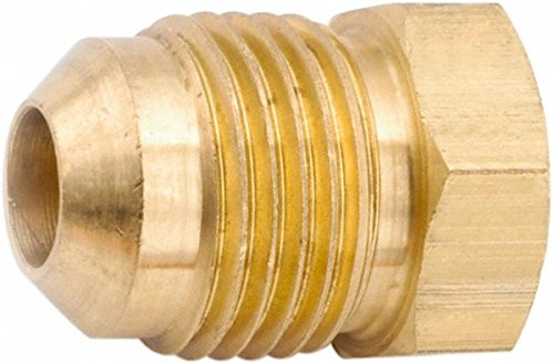 Parker Hannifin 639F-4 Brass Seal Plug, 45 Degree Flare Fitting, 1/4