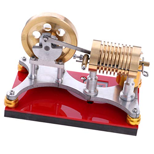 Fityle 300-500RPM Flame Licker Eater Flywheel Stirling Engine Motor Generator Science Kits by Fityle (Image #8)