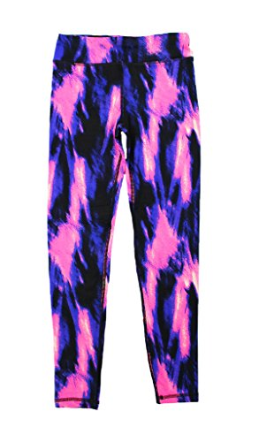90 Degree by Reflex Kids - Girls Printed Leggings - Childrens Pants - Illumination Pink Medium (5-6)