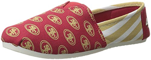 Canvas 6 Francisco Small NFL 5 Shoes Small Women's Red 49ers 6 San 5 Stripe RBRznU