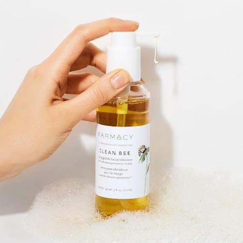 Farmacy Clean Bee Gentle Facial Cleanser - Daily Face Wash & Moisturizer w/Hyaluronic Acid